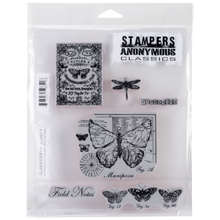 """Stampers Anonymous Rubber Stamp Set 7""""X8.5""""-Classics #17"""