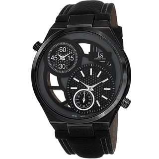 Joshua & Sons Men's Swiss Quartz Dual-Time Strap Watch