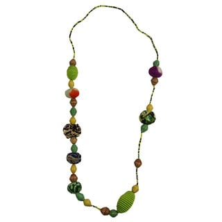 Lime Light Beadedd Pullover Necklace (Rwanda)