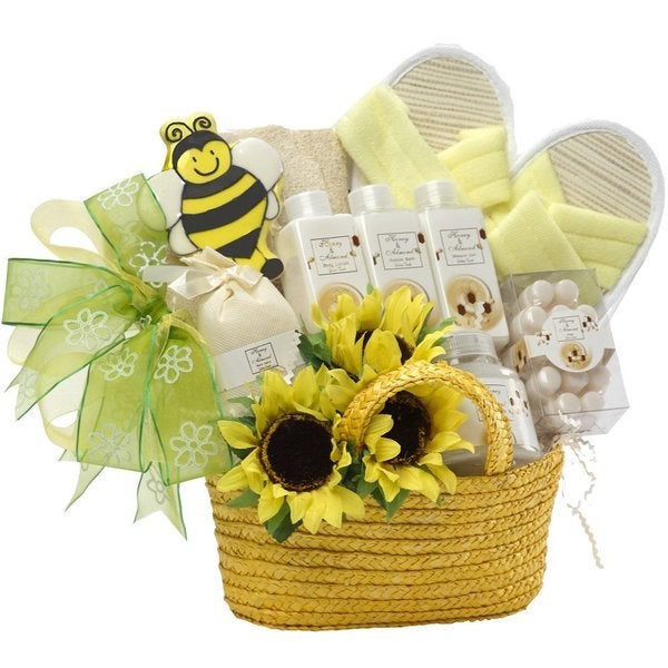 Queen Bee Honey Spa Bath and Body Gift Basket Set
