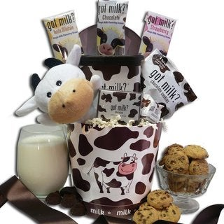 Just Add Milk! Chocolate Milk and Cookies Gift Basket