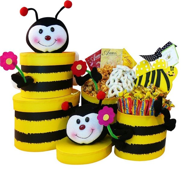 Queen Bee Honey Bee Gift Tower of Snacks and Treats