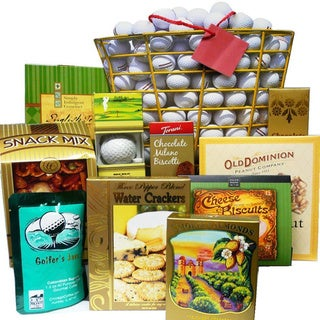 Tee Off Great Golfers Gift Bag Gourmet Snack Sampler