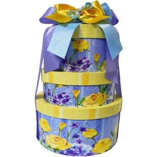 Mothers Day Fancy Floral Gourmet Snacking Gift Tower