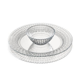 Lisbon Chip and Dip Glass Bowl/ Plate