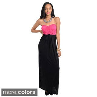Stanzino Women's Strapless Colorblock Maxi Dress