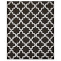 Flat-Weave Beige/ Brown Abstract Pattern Wool Rug (9x12)