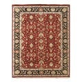 Hand-knotted Red/ Orange Oriental Pattern Wool Rug (9' x 12')