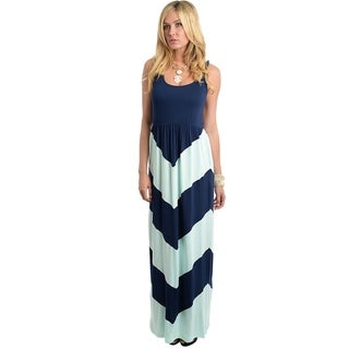 Stanzino Women's Sleeveless Colorblock Maxi Dress