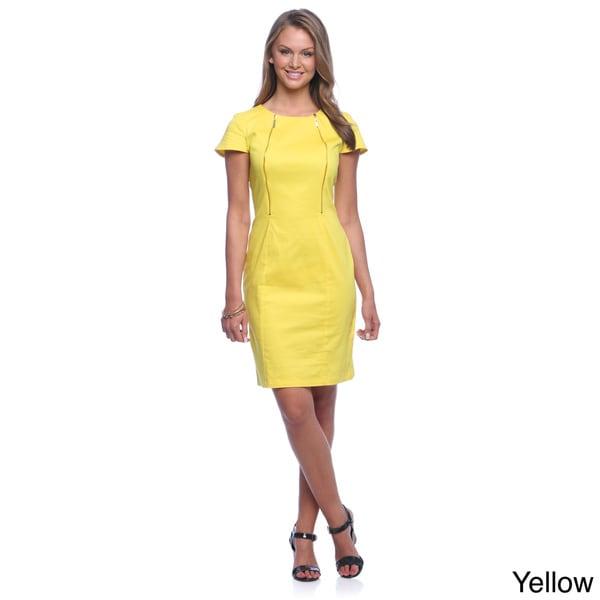 Amelia Women's Cotton Satin Front-zip Dress