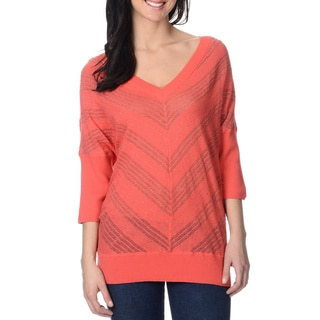 Yal New York Women's Rose Dolman Sleeve Lightweight Sweater