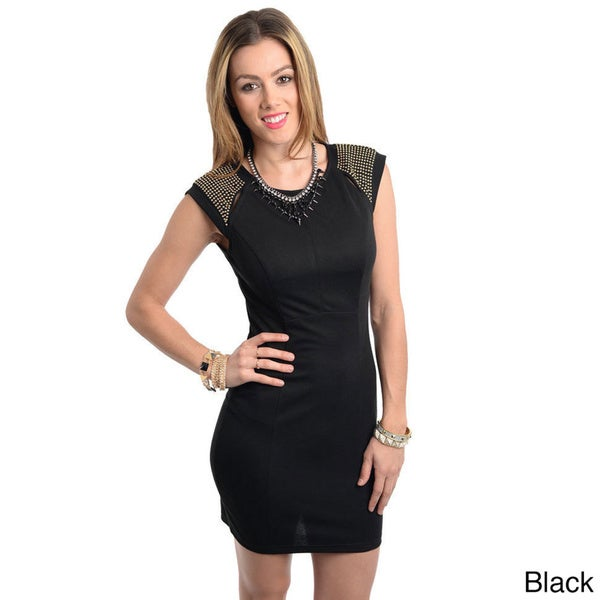 Stanzino Women's Studded Mini Party Dress