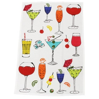 MUkitchen Happy Hour Cotton Dish Towel
