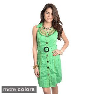 Stanzino Women's Novelty Collared Button-down Dress