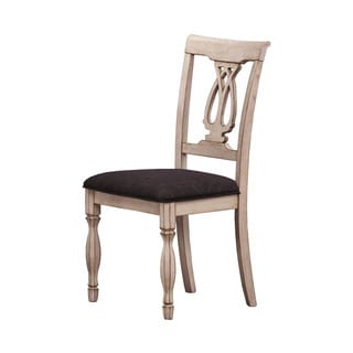 Camille Antique White Side Chair
