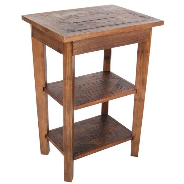 alaterre heritage reclaimed 2 shelf end table. Black Bedroom Furniture Sets. Home Design Ideas
