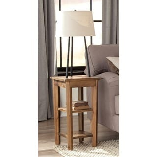 Alaterre Heritage Reclaimed 2-shelf End Table