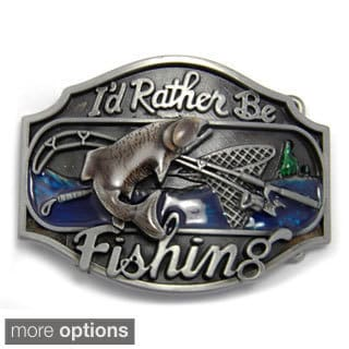 'I'd Rather Be Fishing' Belt Buckle