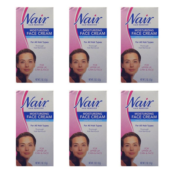Nair Moisturizing 2-ounce Hair-removing Face Cream (Pack of 6)