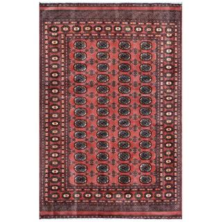 Pakistani Hand-knotted Bokhara Red/ Ivory Wool Rug (5'7 x 8'2)