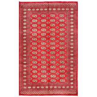 Pakistani Hand-knotted Bokhara Red/ Ivory Wool Rug (4'11 x 8')