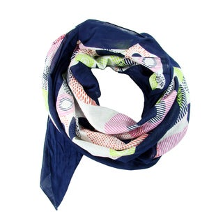 Handprinted Circlet Scarf - Indigo (India)