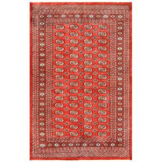 Herat Oriental Pakistani Hand-knotted Bokhara Red/ Ivory Wool Rug (5'2 x 7'11)