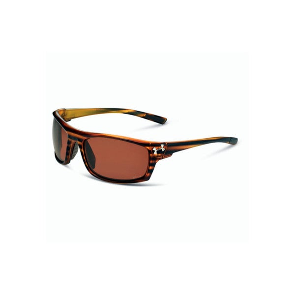 Under Armour Keepz Storm Satin Wood Grain Brown Polarized Performance Eyewear