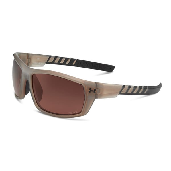 Under Armour Ranger Storm Satin Crystal Brown Performance Sunglasses