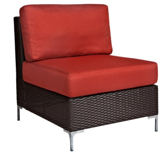 angelo:HOME Napa Springs Resin Wicker Tulip Red Armless Chair Indoor/Outdoor Resin Wicker