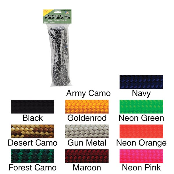 Parachute Cord 4mm 100ft/Pkg