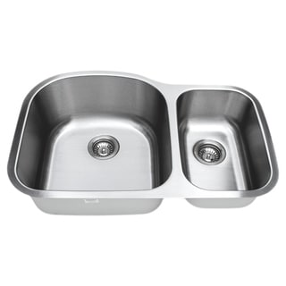 Wells Sinkware 16-gauge 70/30 Double Bowl Undermount Stainless Steel Kitchen Sink