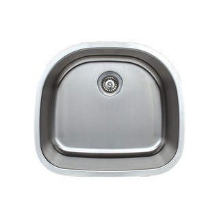 Wells Sinkware 16-gauge D-shape Single Bowl Undermount Stainless Steel Kitchen Sink
