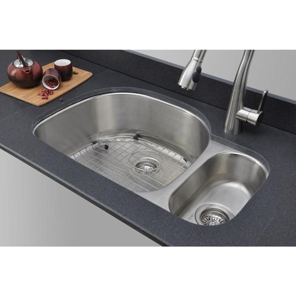 Wells Sinkware 18-gauge 80/20 Double Bowl Undermount Stainless Steel Kitchen Sink
