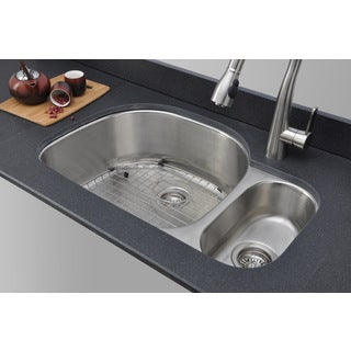 Wells Sinkware 18-gauge 80/20 Double Bowl Undermount Stainless Steel Kitchen Sink