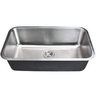 Wells Sinkware 30-inch Undermount Single Bowl 18-gauge Stainless Steel Kitchen Sink