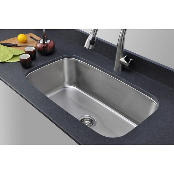 Wells Sinkware 18-gauge 31-inch Single Bowl Undermount Stainless Steel Kitchen Sink