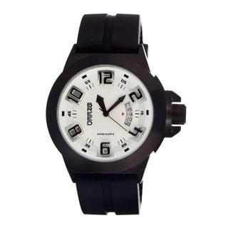 Breed Men's Alpha White Silicone Black Analog Watch