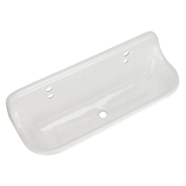Kohler Brockway White Wall-mount Wash Sink - 16190272 - Overstock.com ...