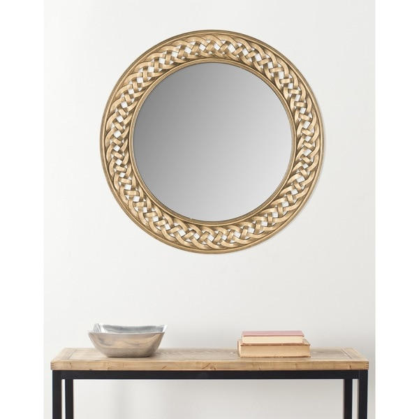 Safavieh Braided Chain Gold Mirror