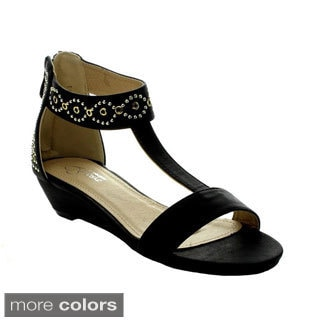 I Heart Collection Elena-04 Women's Studded Ankle Strap Sandals
