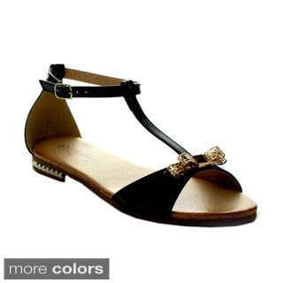I Heart Collection Ali-06 Women's T-Strap Flat Sandals