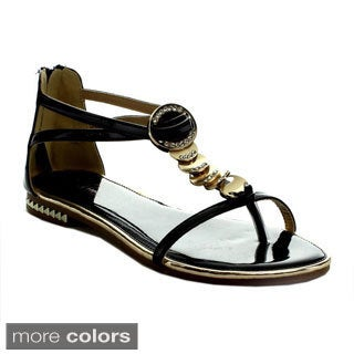 I Heart Collection Ali-03 Women's T-Strap Flat Sandals