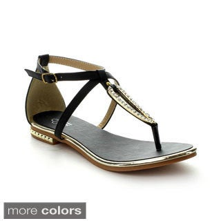 I Heart Collection Ali-05 Women's T-Strap Flat Sandals