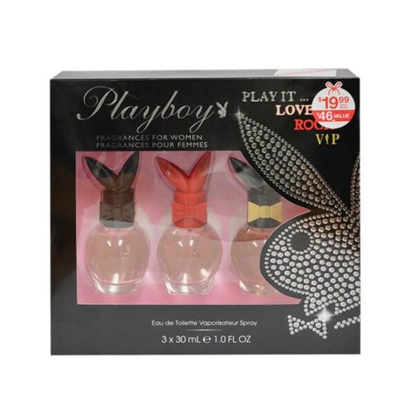 Playboy 'Play It' Women's 3-piece Set