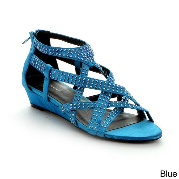 Mark & Maddux Jimmy-03 Women's Gladiator Wedge Sandals