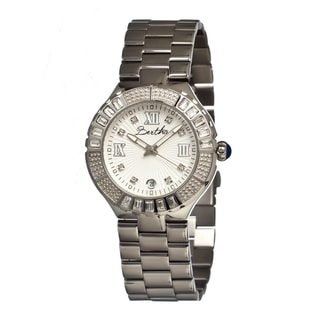 Bertha Women's Evelyn Silver Stainless Steel Analog Watch