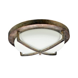 X Light 3-light Bronze Flush Mount Ceiling Fixture