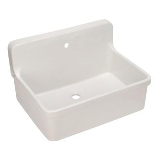 Kohler Gilford Apron Front White Wall Mount Sink - Overstock Shopping ...