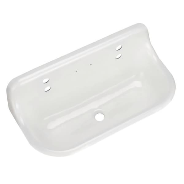 Kohler Brockway White Cast-iron Wall-mount Wash Sink - 16190397 ...
